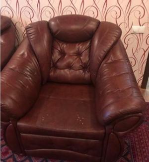 обивка кожаного кресла